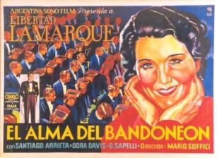 Bandonéon sans frontières - Affiche du film El alma del bandonéon de Mario Soffici avec Libertad Lamarque