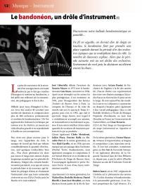 Article sur le bandonéon (4) paru dans la revue Tout Tango n° 12 Juillet-Août 2007 - 1ère page