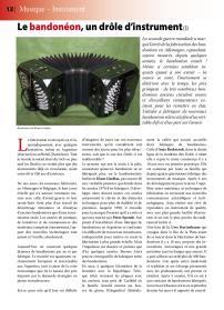 Article sur le bandonéon (5) paru dans la revue Tout Tango n° 13 Octobre-Novembre-Décembre 2007 - 1ère page