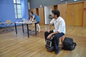 CONFERENCE - Anibal Troilo - Solange Bazely et Fernando Maguna, salle Osète pendant le festival Tangopostale à Toulouse en juillet 2014