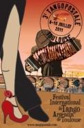 CONSEIL - Affiche du 3ème festival Tangopostale à Toulouse, en 2011