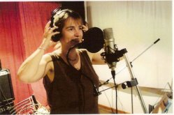 Enregistrement de la voix de Solange Bazely à Cordoba, en Argentine, décembre 2008
