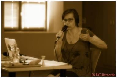 CONFERENCE - Pendant la conférence sur Anibal Troilo, en juillet 2014 pour Tangopostale à Toulouse © DJ Byc Bernardo