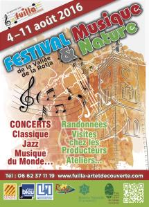 Conseil Artistique - Festival Musique et Nature de la Vallée de la Rotja du 4 au 11 août 2016