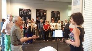 EXPOESIE - Vernissage le 29 Juin 2016 à la Maison de la citoyenneté Centre à Toulouse, en présence du Maire-adjoint Jacqueline Winnepinnenx-Kieser - © Christian Couderette