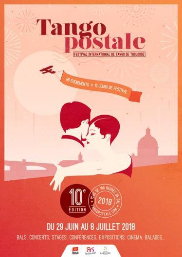 Affiche 10ème édition Festival Tangopostale Toulouse 2018