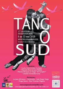 Affiche Festival Tangosud Montpellier 2018