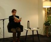 Lecture La danse de l'araignée le samedi 27 janvier 2017 à la librairie Ombras Blanches Etrangères, dans le cadre du Café Tango, organisé par le festival Tangopostale © Christian Couderette