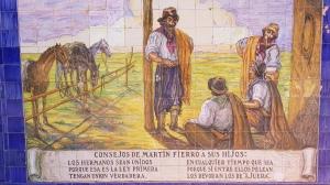Azulejos du Martín Fierro à Mendoza, Argentine