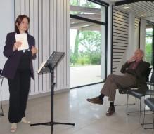 """Solange Bazely pendant la lecture """"Les danseurs de tango"""" - les Allumés de Nantes 2018 © Brigitte Gerbaud"""