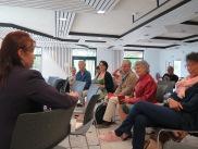 """Echange avec le public après la lecture """"Les danseurs de tango"""" pendant les Allumés de Nantes 2018 © Brigitte Gerbaud"""