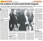 Article COTE TOULOUSE sur Carlos Gardel