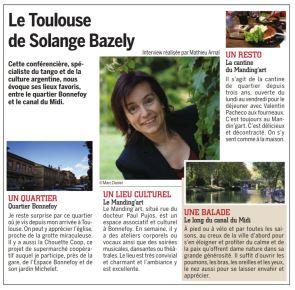 Le Toulouse de Solange BAZELY