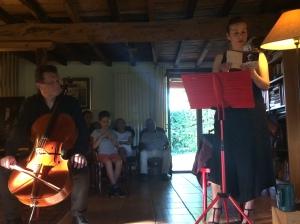 Lecture privée - 24 Juin 2018, avec Pierre Gil, violoncelle solo de l'Orchestre National du Capitole de Toulouse