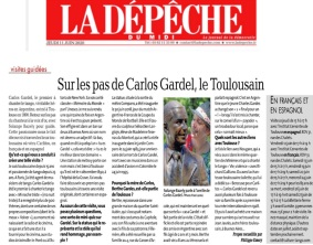 Article Depeche Carlos Gardel Visite 11062020